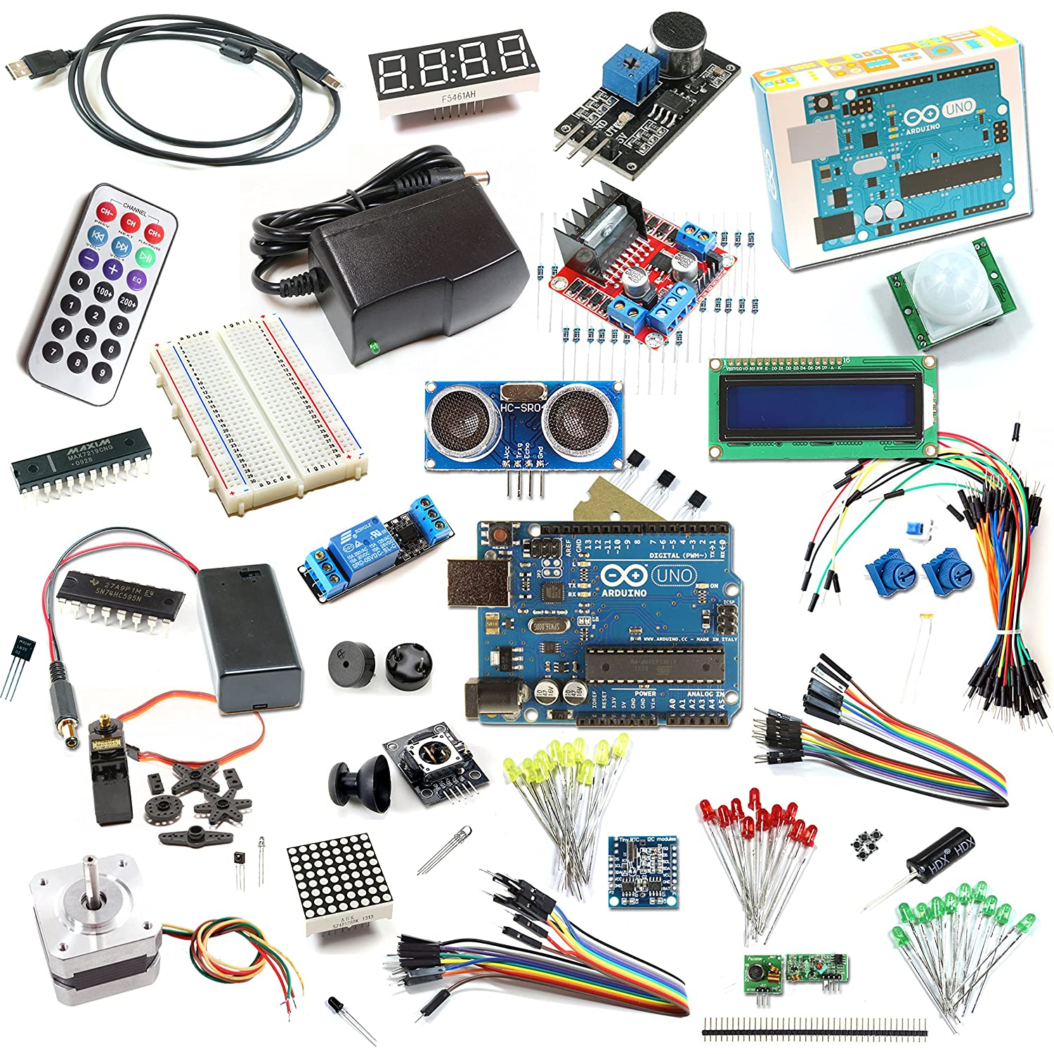 Starter Kit Deluxe With Genuine Arduino Uno R3 Amplifier The Digital Potentiometer Controlled By Computers Accessories