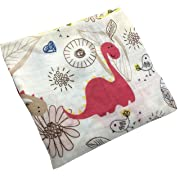 HGHG Baby Muslin Swaddle Blanket Your Receiving Blanket for Boys and Girls 47inches (Hot Dinosaur)