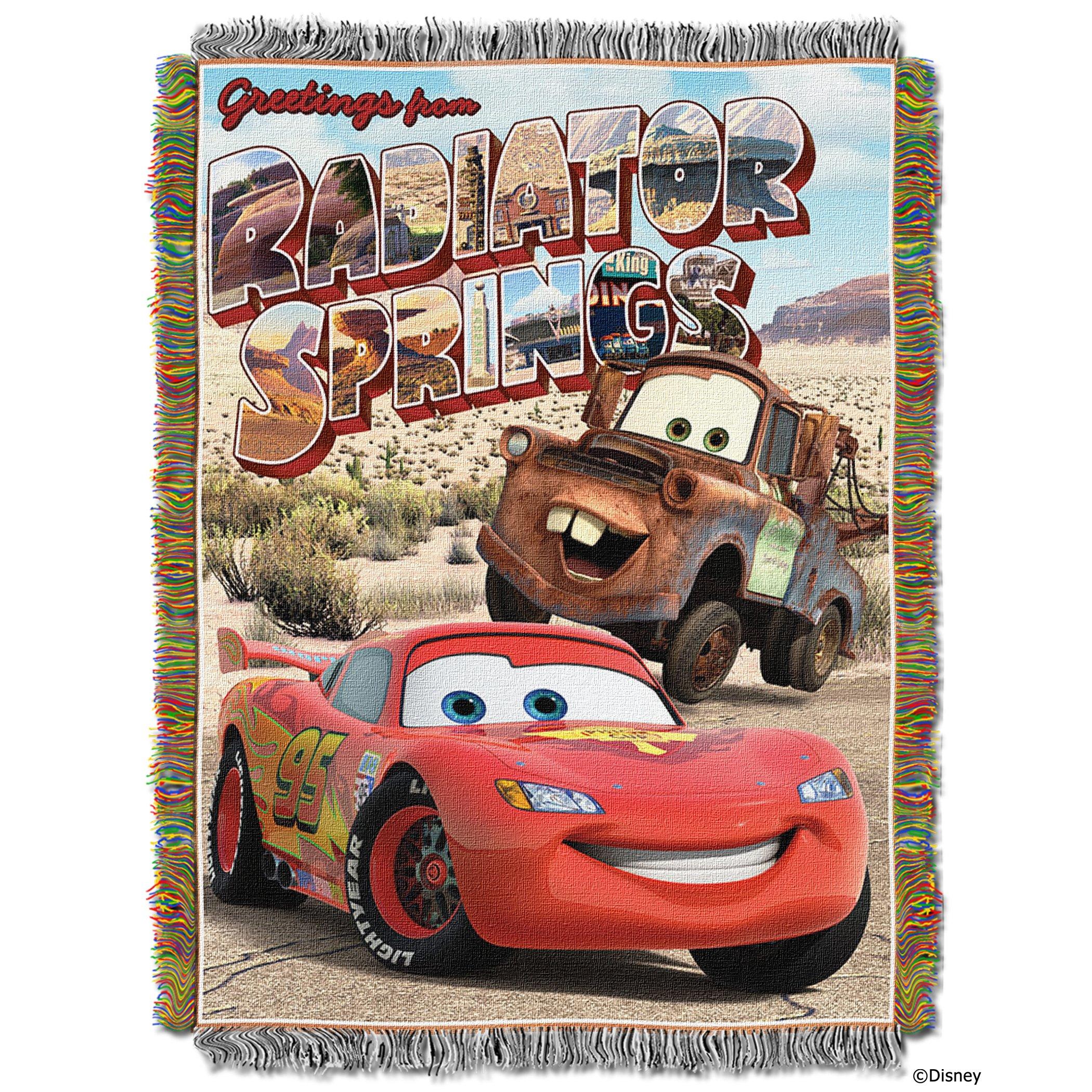 Disney-Pixar's Cars, ''Greetings from Radiator Springs'' Woven Tapestry Throw Blanket, 48'' x 60'', Multi Color by Disney Pixar