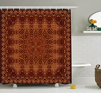 Antique Shower Curtain Decor By Ambesonne, Vintage Lacy Persian Arabic  Pattern From Ottoman Empire Palace