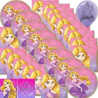 Tangled Rapunzel Party Supplies Lunch Plates and Dinner Napkins Bundle