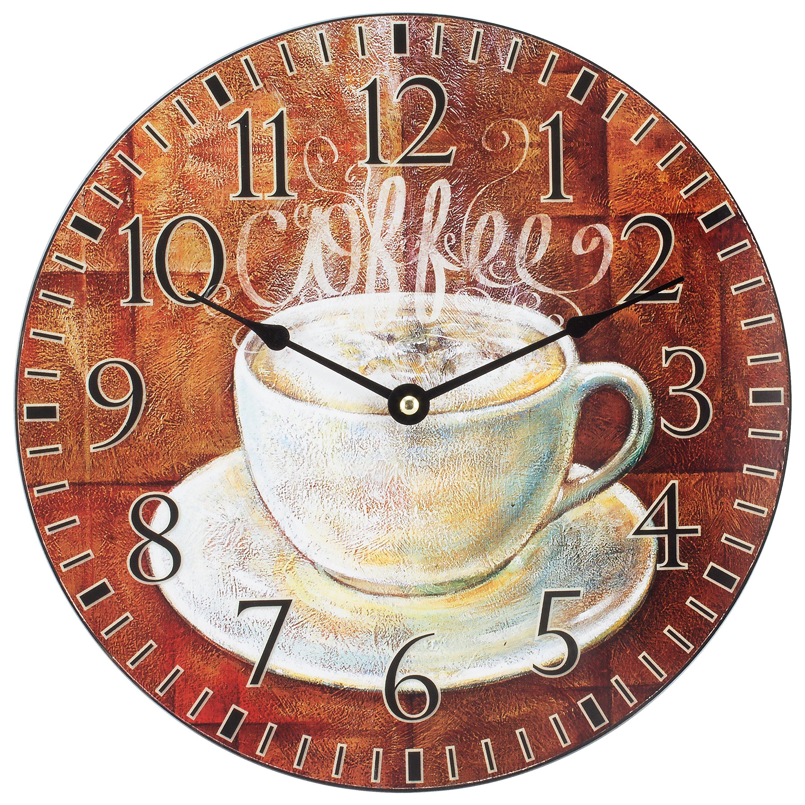 La Crosse Technology 404-2631C 12'' Round Coffee Decor Analog Wall Clock