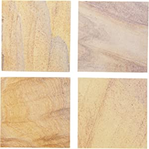 Thirstystone Brand Rainbow, Multicolor All Natural Sandstone-Durable Stone with Varying Patterns, Every Coaster is an Original, 4