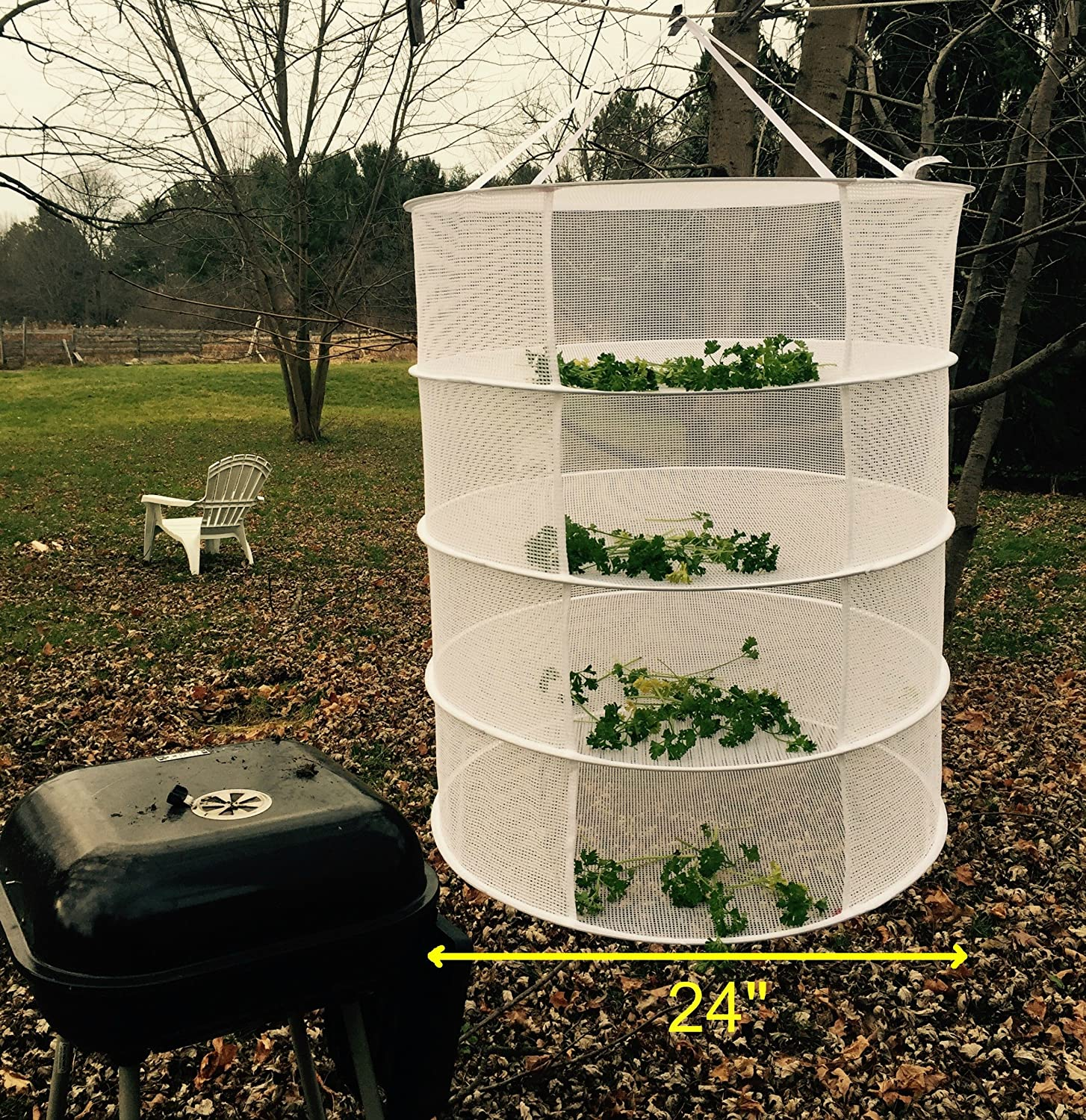 Amazon.com  Herb Quick Cure Hanging Drying Rack Bud and Plant Hang Dryer Net Rack 4 Tier Christmas Gifts Gardening Gifts for Mom or Grandma + Carrying Case ... & Amazon.com : Herb Quick Cure Hanging Drying Rack Bud and Plant ...