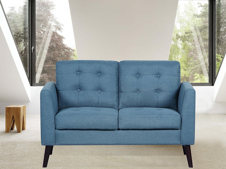 Amazon.com: US Pride Furniture S5291-L Loveseat Sofa, Ocean ...