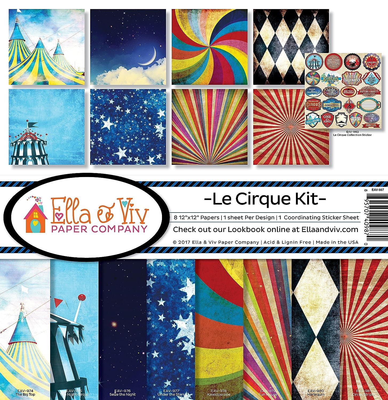 Ella & Viv by Reminisce Le Cirque Scrapbook Collection Kit EAV-987