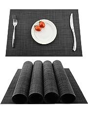 KOKAKO Sets de Table, Tapis de Table,4Pcs,Antidérapants, Anti Usure, Résistant à la Chaleur en PVC Lavables pour Cuisine, Salle à Manger