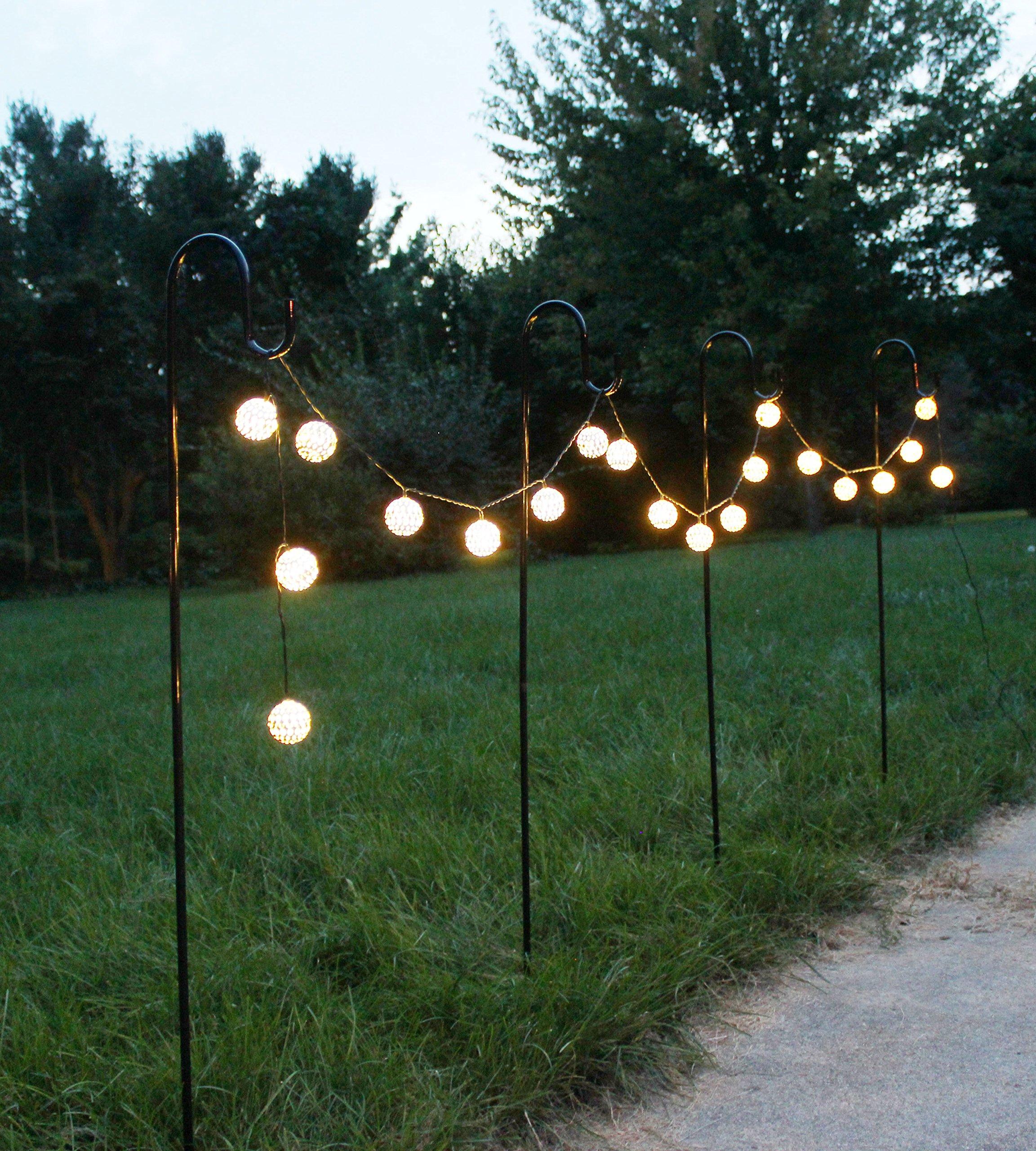 Joiedomi 39 Inches Shepherd Hook Garden Hook Hanger Premium Metal Rust  Resistant For Hanging Plants, Solar Lights, Lanterns, Bird Feeders Etc (4  Pack) ...