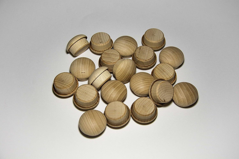 Pack de 20 bouchons en bois de hêtre (Ø 25/30 mm avec cheville): Amazon.es: Bricolaje y herramientas