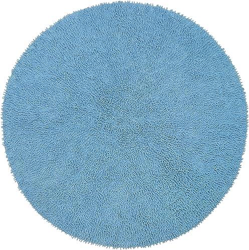 Lt Blue 5 Round Shagadelic Chenille Twist Rug