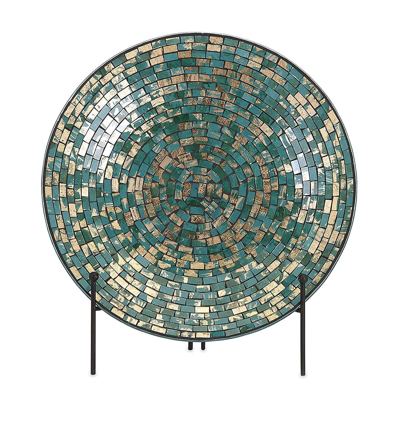 Amazon Com IMAX 80035 Glacier Mosaic Charger And Stand Turquoise. Large Decorative Plate ...  sc 1 st  Modern Kitchen Table Sets & Exciting Large Decorative Plates With Stands Contemporary - Best ...
