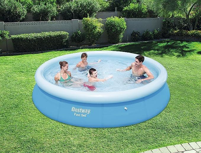 Bestway Fast Set Piscina Sin depurador (Piscina hinchable, Round pool, 5377 L, Azul, PVC, 3 personas(s)), 366x76 cm