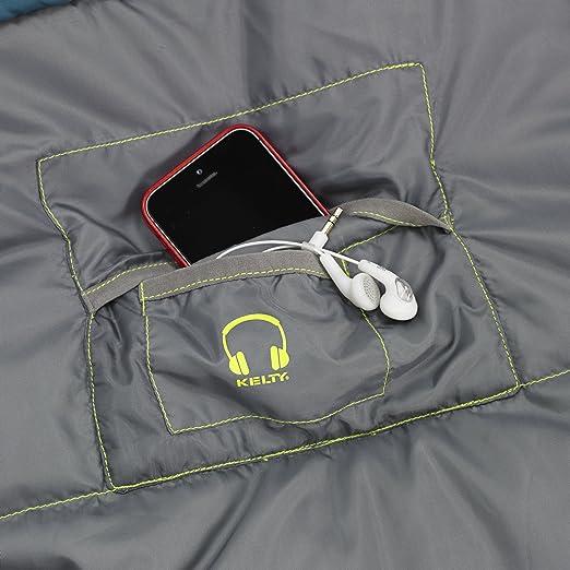 Kelty Schlafsack Tuck 35 DEG Thermapro - RH - Saco de dormir momia para acampada, color turquesa (libelle), talla one size: Amazon.es: Deportes y aire libre