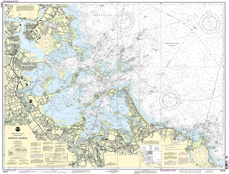 Amazoncom 13270Boston Harbor Fishing Charts And Maps Sports