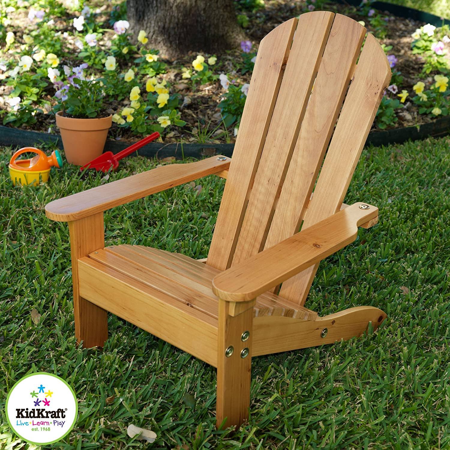 Amazon KidKraft Adirondack Chair White Toys & Games