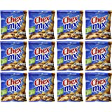 Chex Mix Traditional Snack Mix 60% Less Fat - 1.75 Oz. Per Pack (12 Pack) Small Storage Space Friendly