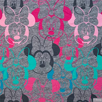 3ad4c83ab7f Swafing MINNIE MOUSE JERSEY FABRIC - Minnie Mouse Grey - Jersey Fabric -  SWAJ61-0.5 Metre - Stretch Jersey Knit Fabric: Amazon.co.uk: Kitchen & Home