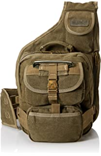 Eurosport Canvas Urban Sling Crossbody Backpack Bag (Olive) 087732f095285