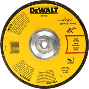 DEWALT DW4550 9-Inch by 1/4-Inch by 5/8-Inch-11 High Performance Fast Metal Grinding Wheel