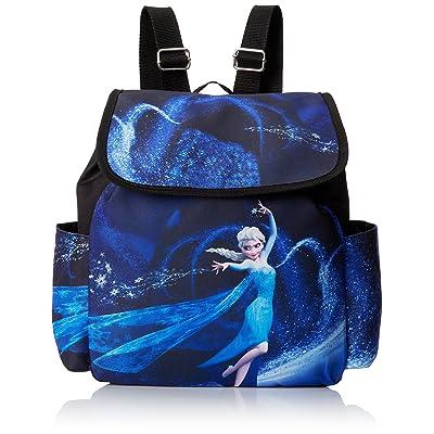Concept One Handbags Frozen Elsa Sublimation Print Backpack, Black: Clothing