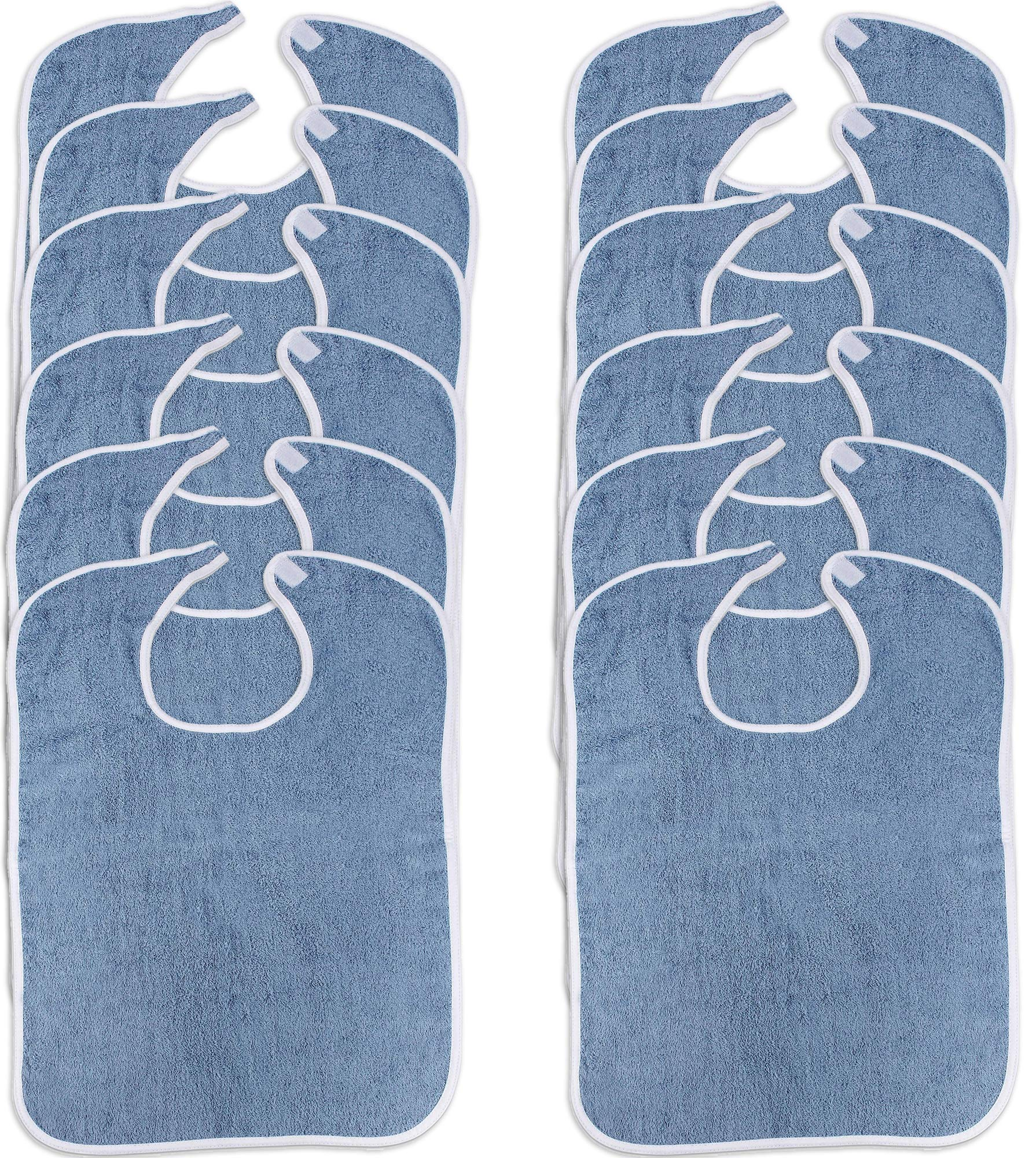 Utopia Towels Premium Quality Adult Terry Cloth Bibs (Pack of 12, Blue) by Utopia Towels