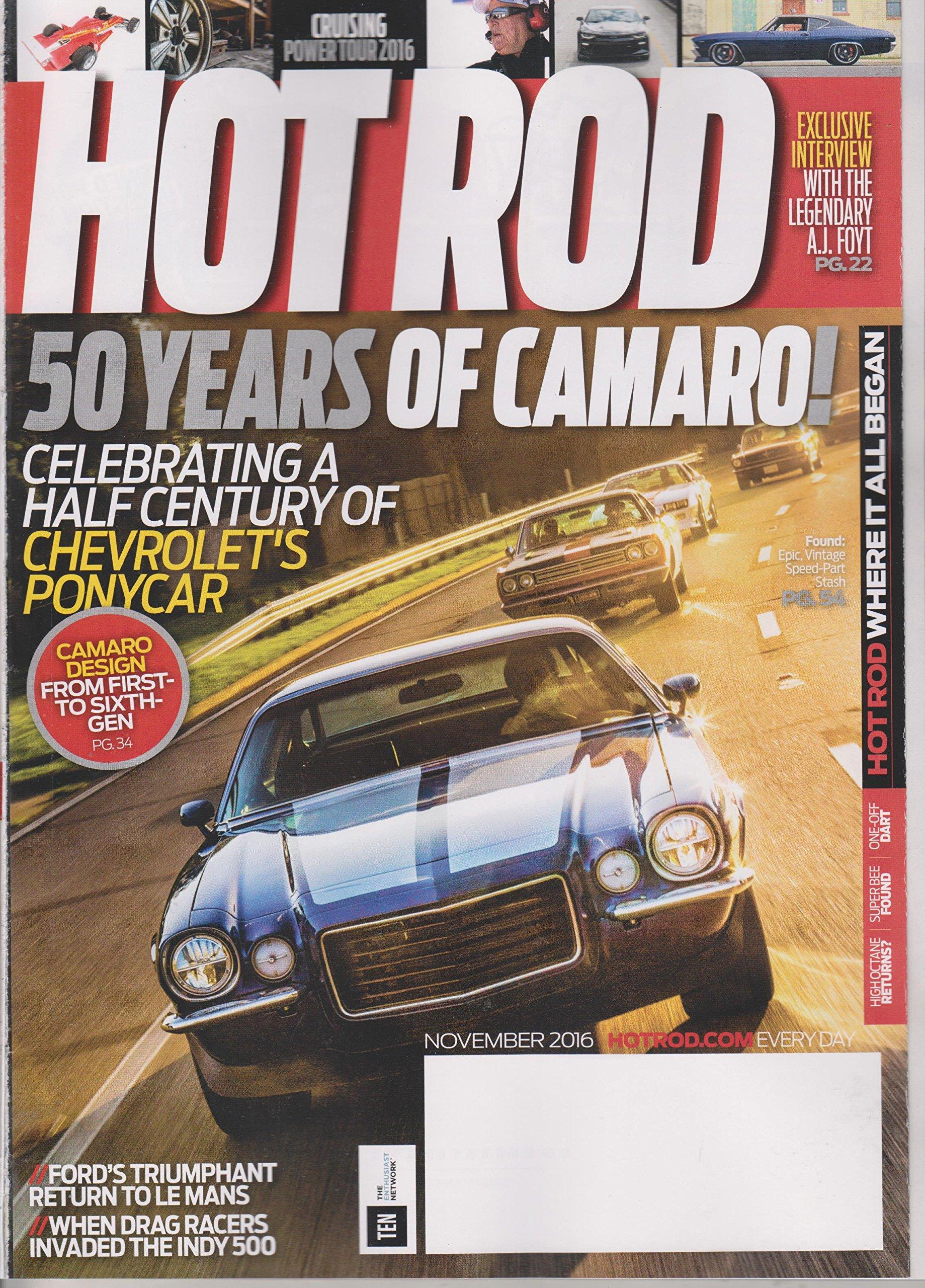 Hot Rod November 2016 50 Years of Camaro! Camaro Design From First to Sixth Generation ebook