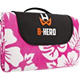 B-HERO Extra Large Picnic & Outdoor Blanket, Fleece Mat With Waterproof Backing Perfect For Picnics And Beaches