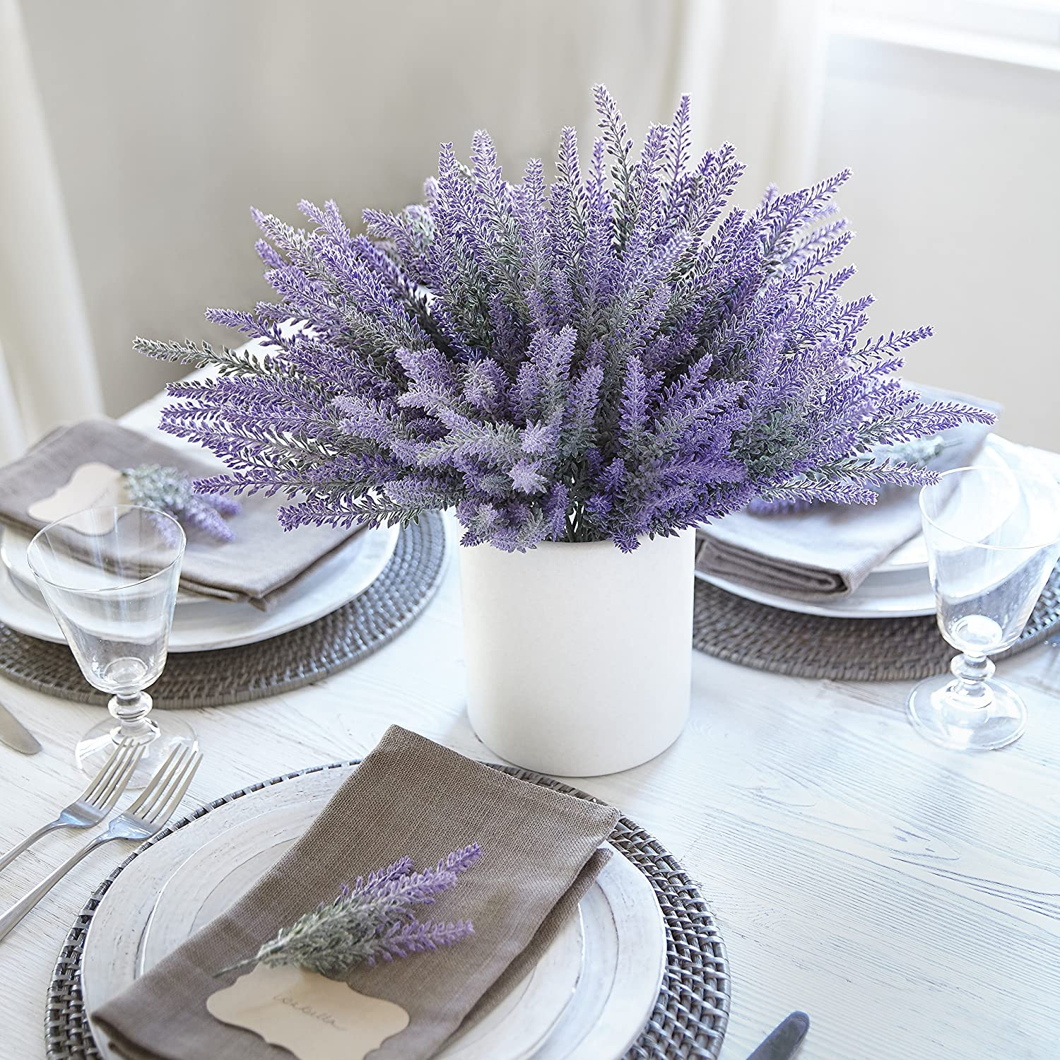 Amazon.com: Heart to Heart Artificial Lavender Flowers large pieces ...