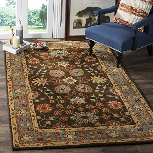 Safavieh Heritage Collection HG405A Traditional Charcoal Grey and Blue Area Rug 9' x 12'