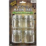 Wee Little Mason Jars with Lids – For Food, Drinks, and Decoration – Clear Glass, No Markings – 100% Crack-Free Guarantee – Dishwasher Safe – 2.5 Ounces – 4-Pack