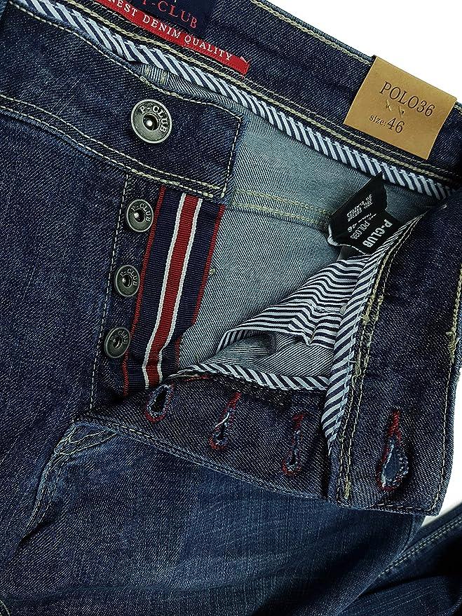 P-Club Jeans Uomo Elasticizzati Slim Fit Slavati 5T Denim 46 48 50 52 54 56 58