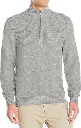 IZOD Mens Saltwater Solid 1//4 Zip Sweater