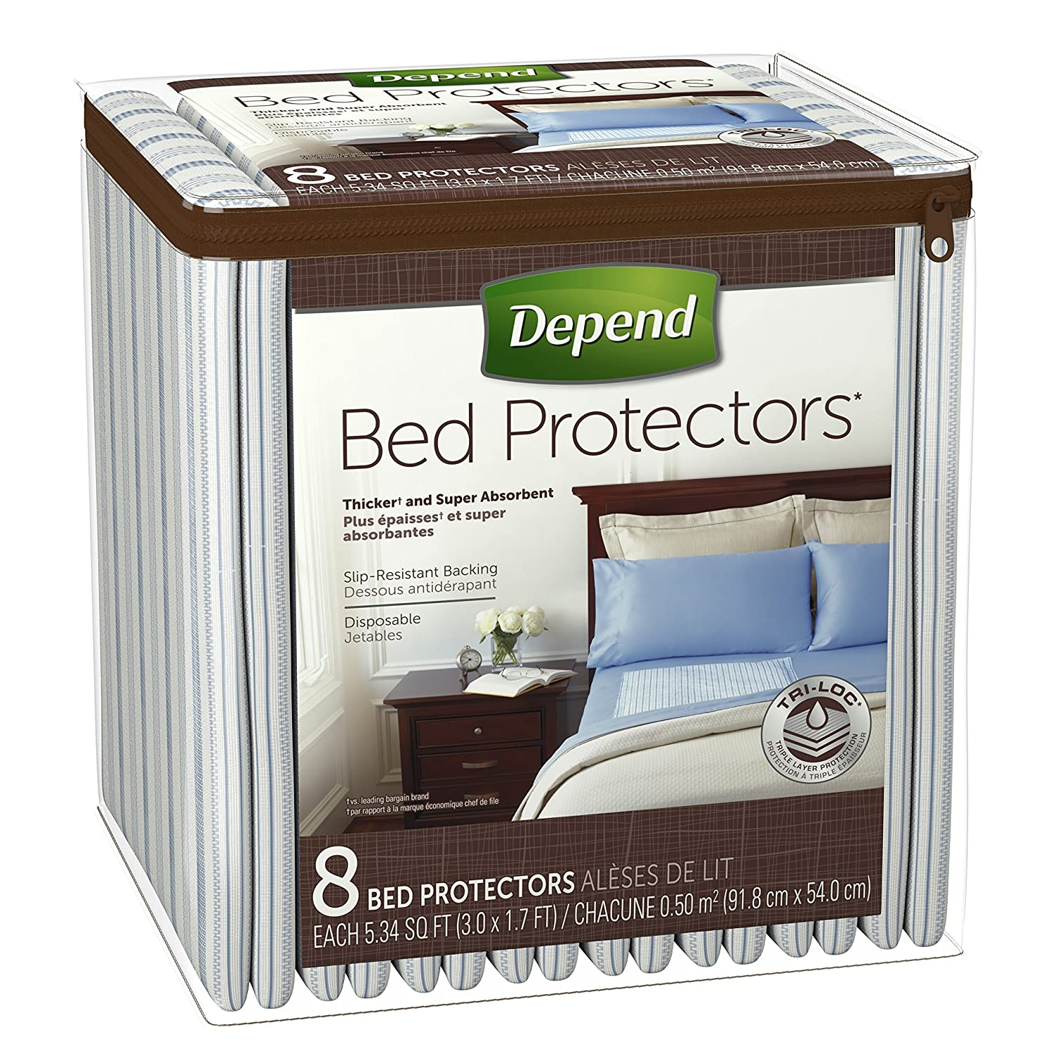 amazon com depend bed protectors for incontinence protection 24