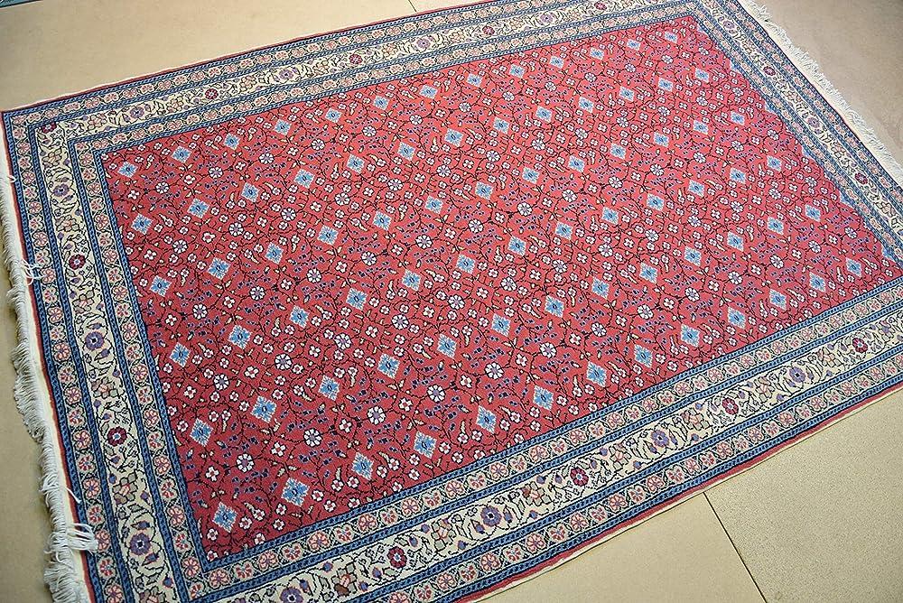 Anatolian Rug 4.4x7.3 ft,vintage turkish rug,muted color rug,living room rug,pink area rug,hand woven rug,pink kitchen rug,large runner rug