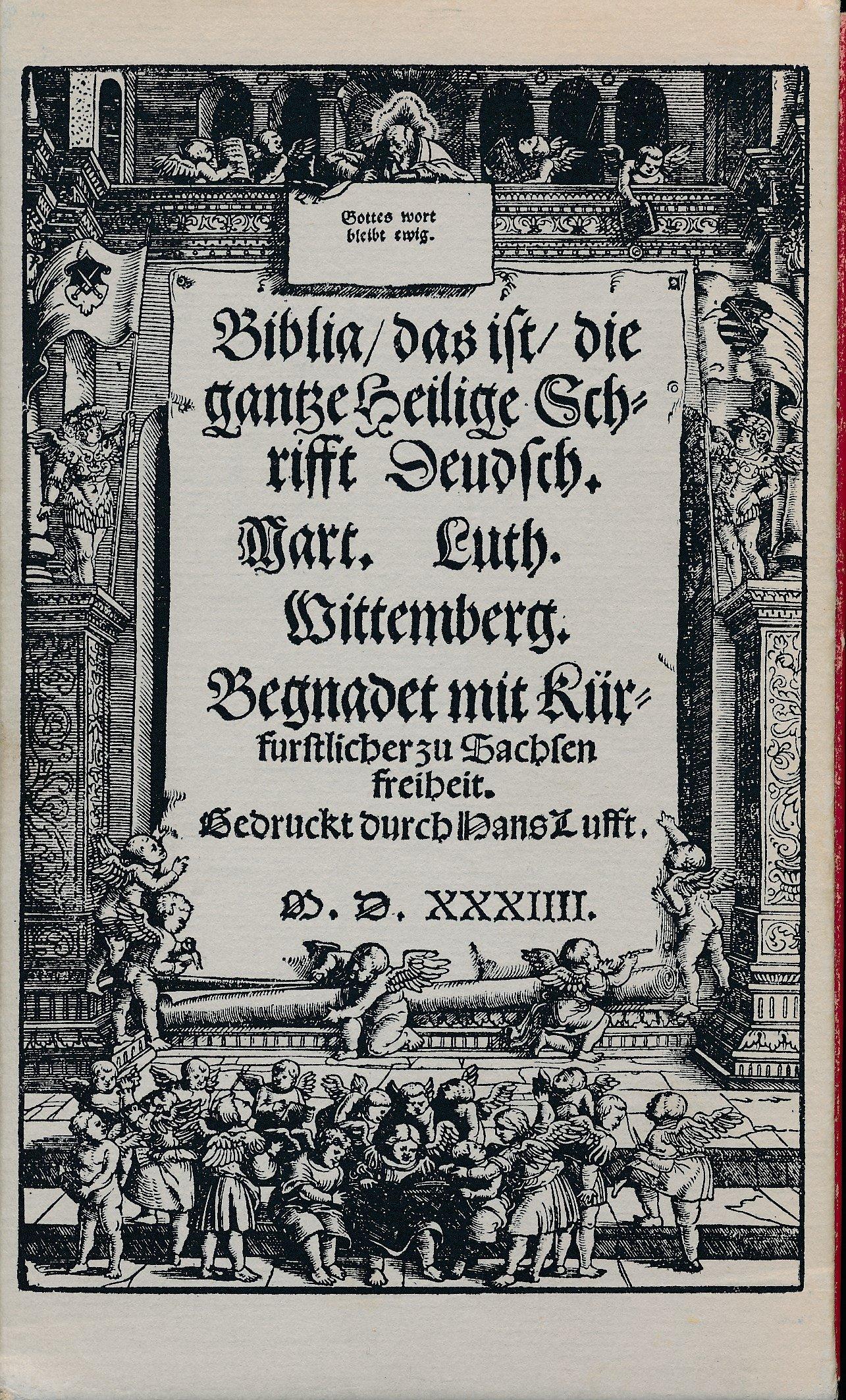 Biblia/das ist/die gantze Heilige Schrift Band 1 + 2 / Zu Luther: Biblia (3 Bücher);