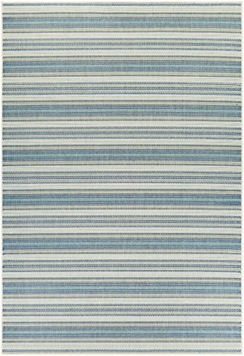 Couristan Monaco Collection Marbella Rug, 5 by 8-Feet, Ivory Sand Azure