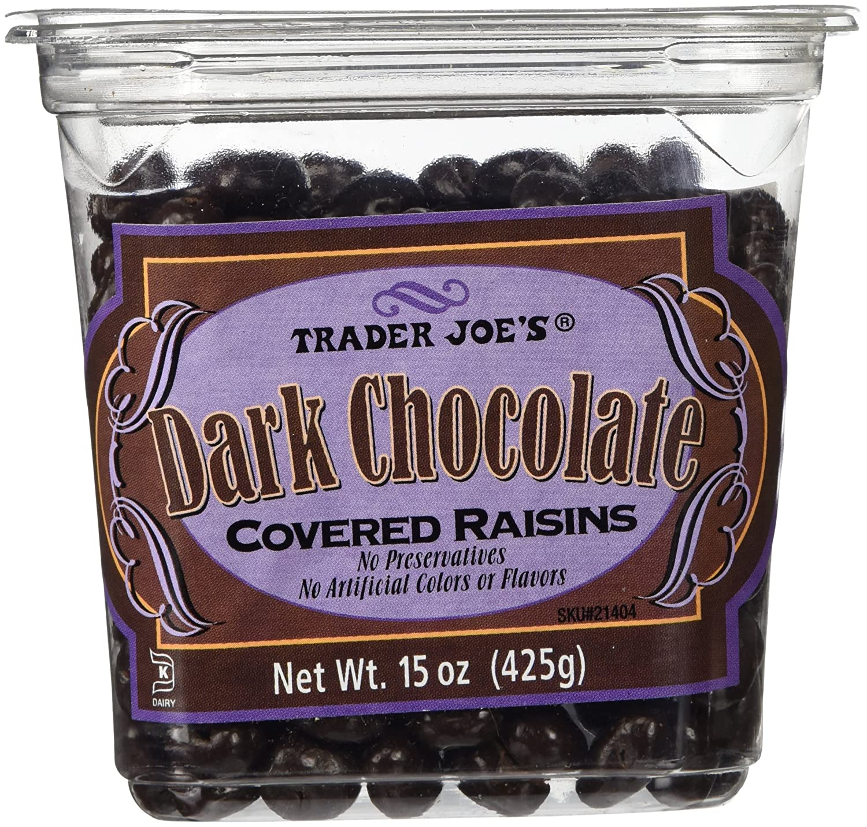 Amazon.com : Trader Joes Dark Chocolate Covered Raisins : Candy ...