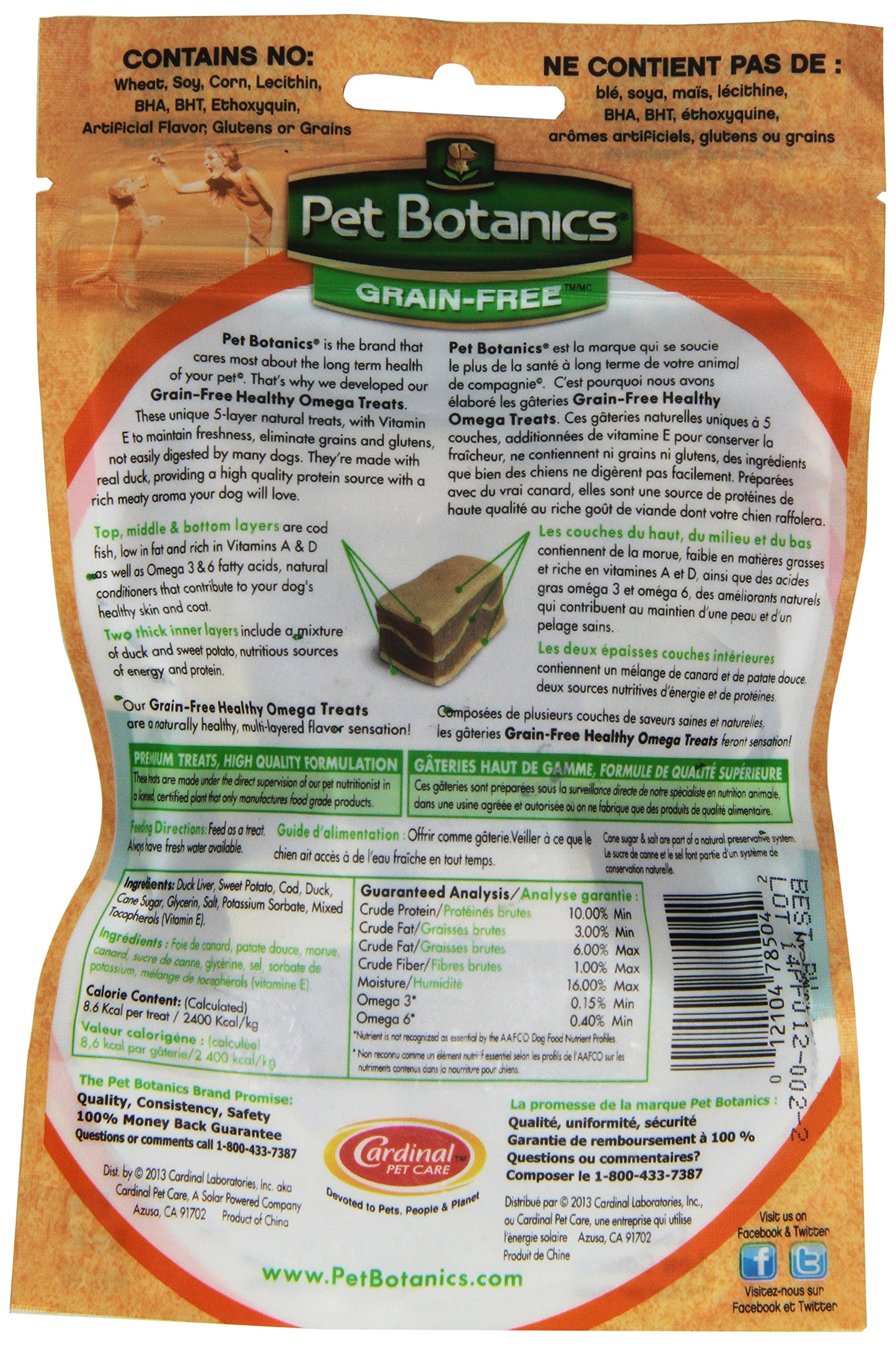 Pet Botanics Healthy Omega Treats For Dogs, Duck 3 Oz.