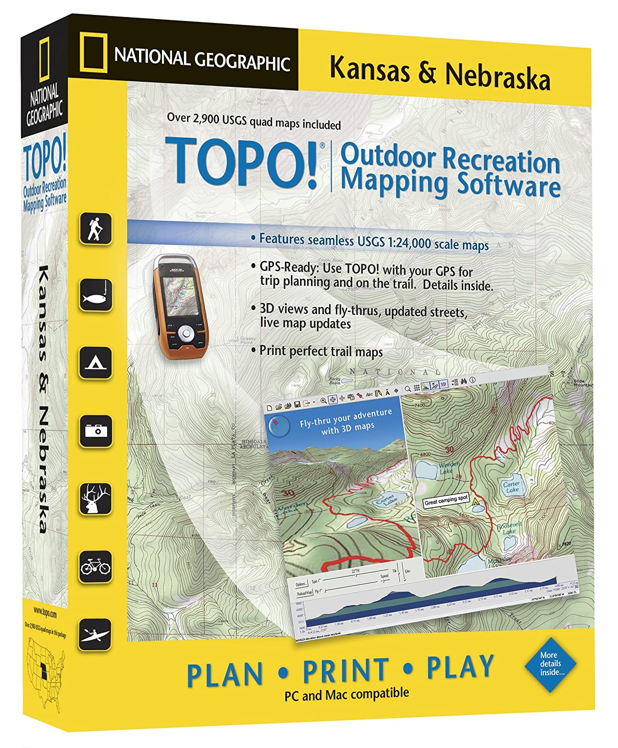 Amazoncom TOPO National Geographic USGS Topographic Maps - How to increase cache size us topo maps pro