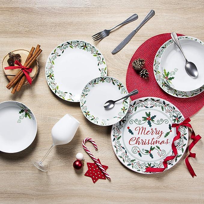 Porcellana Excelsa Christmas Holly Piatto Panettone//Portata