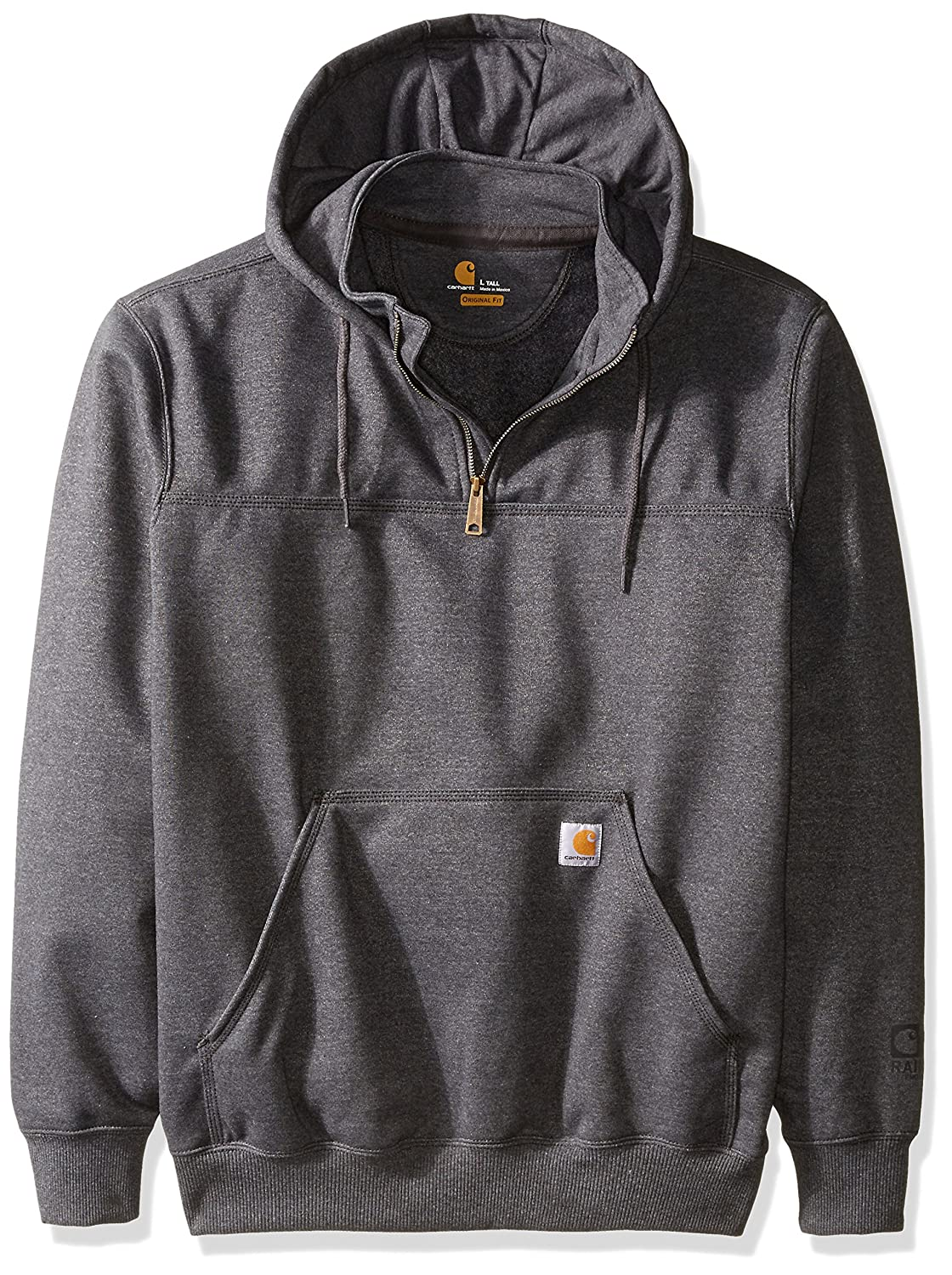 Carhartt Men's Big & Tall Rain Defender Paxton Heavy Weight Hooded Zip Mock Sweatshirt Carhartt Sportswear - Mens 100617B