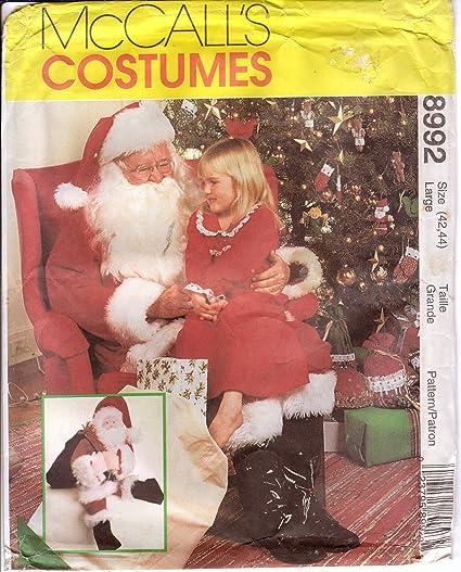 Amazon Mccalls Sewing Pattern 8992 Santa Claus Costume Bag