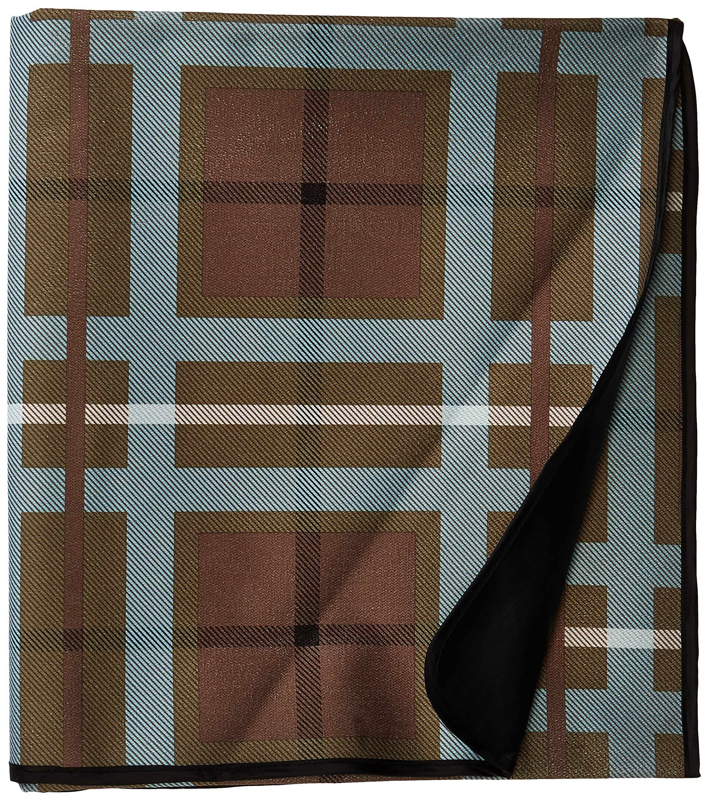 Carolina Pet Versatile Luxurious Multi-Purpose Throw for Pets, Blue/Brown Plaid - Color: blue/brown plaid Anti-Skid PVC backing; will not shrink or fade; protects furniture from pet hair and soiling Suitable for all sizes - blankets-throws, bedroom-sheets-comforters, bedroom - A1IBNWP6qVL -