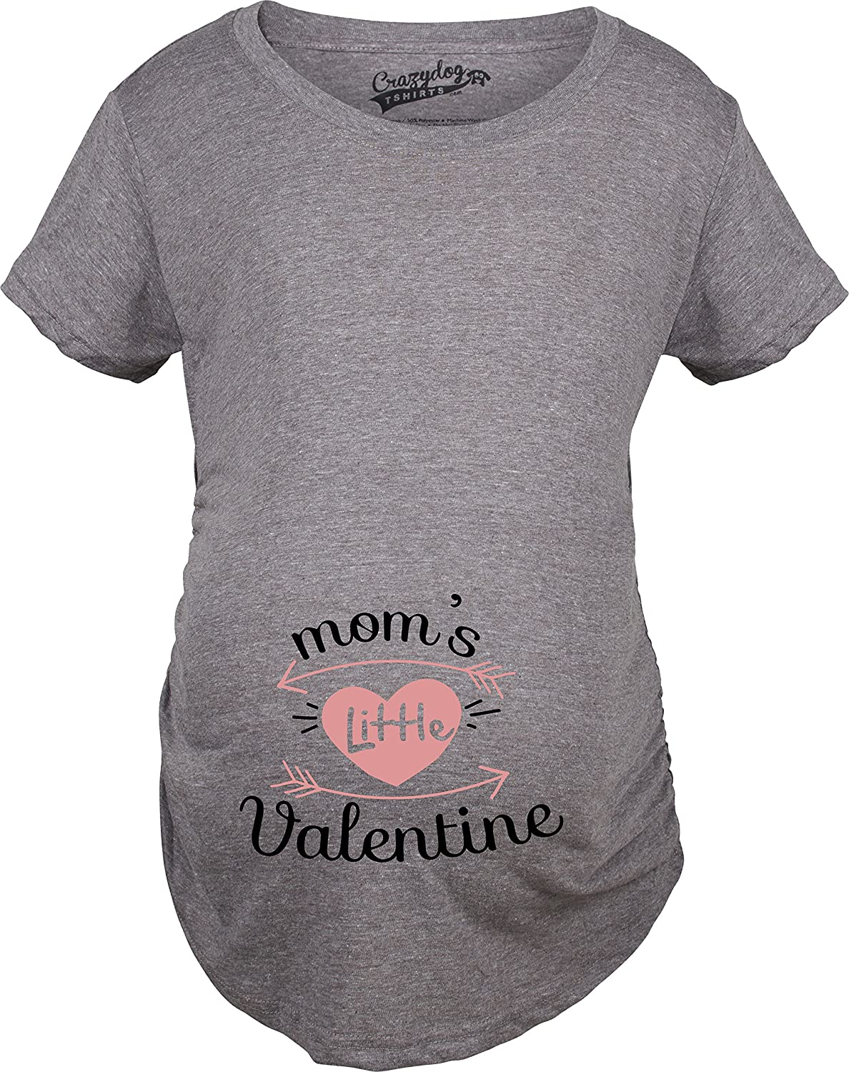 crazy dog tshirts maternity moms little valentine cute funny valentines day pregnancy t shirt at amazon womens clothing store