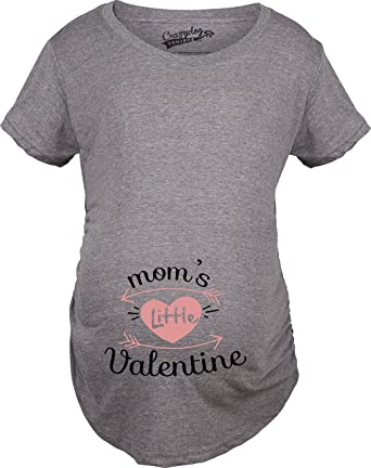 Crazy Dog T Shirts Maternity Moms Little Valentine Cute Funny Valentineu0027s  Day Pregnancy T Shirt