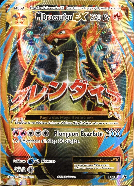 Carte Pokémon 101108 Méga Dracaufeu Ex 220 Pv Full Art