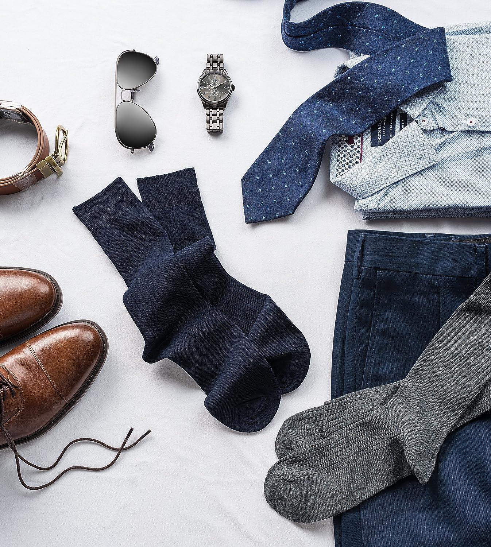 Silky Toes Mens Holiday Gift Box Cotton Dress Socks Gift Set