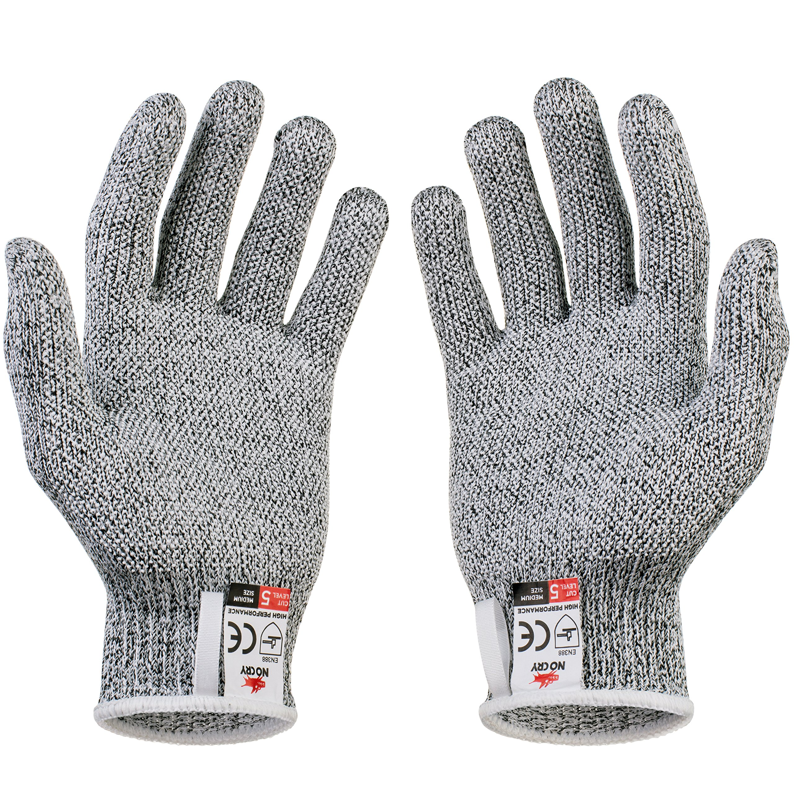 NoCry Cut Resistant Gloves with Grip Dots - High Performance Level 5 Protection, Food Grade. Size Large, Free Ebook Included! by NoCry (Image #8)