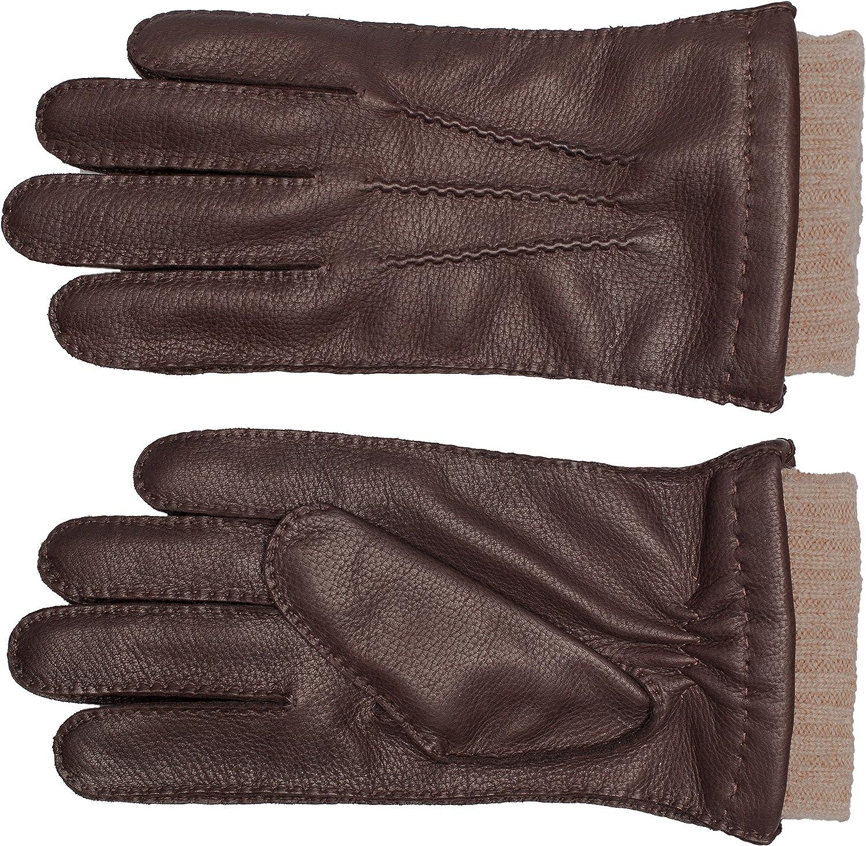 EEM Uomo guanti in pelle EDGAR pelle di daino fodera maglieria 50/% cachemire e 50/% lana
