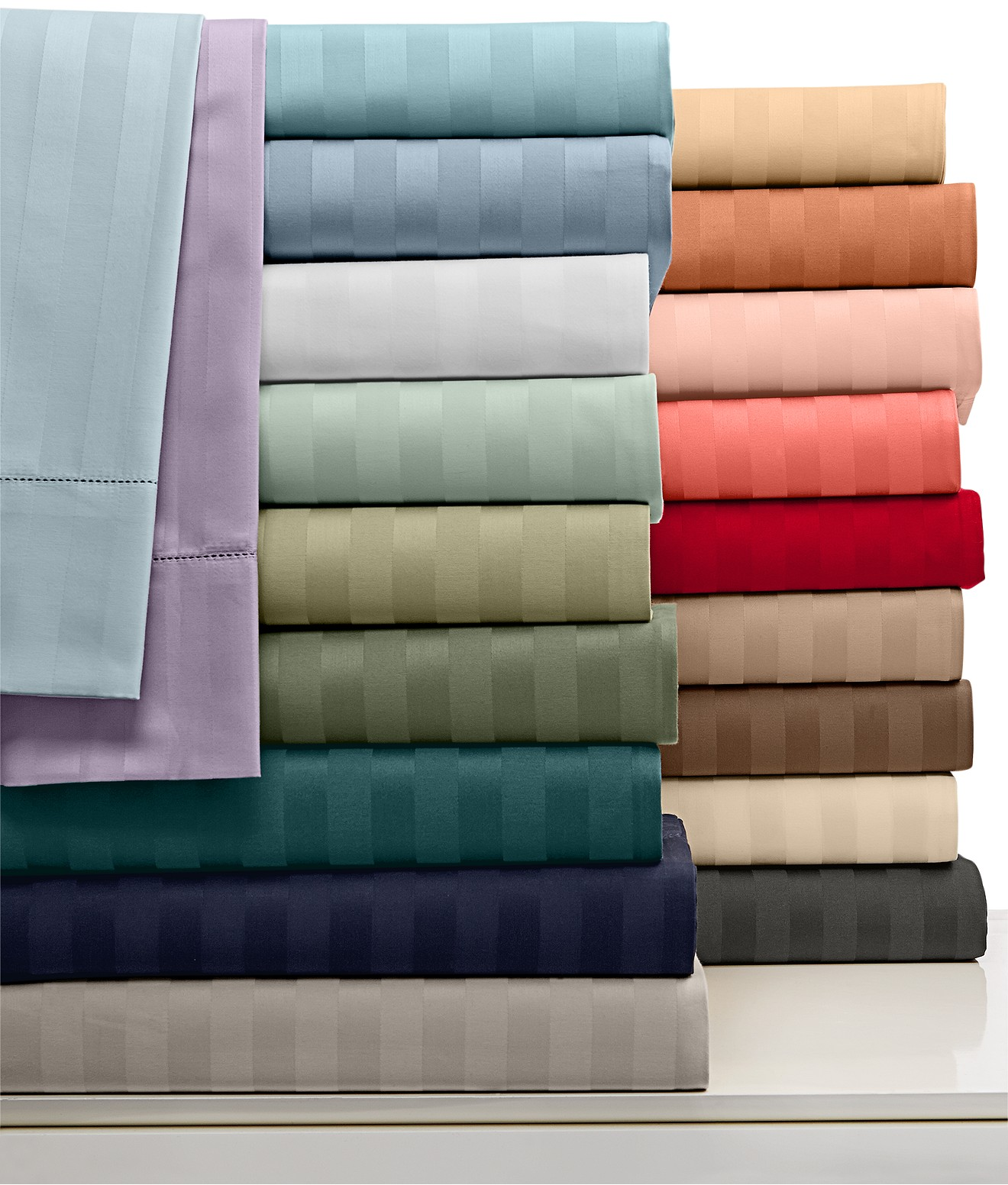 Charter Club Damask Stripe Wrinkle Resistant 500 Thread Count Pima Cotton Sheet Sets, Only at Macy's - Sheets - Bed & Bath - Macy's